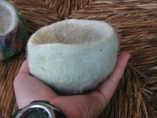 wool felted bowls