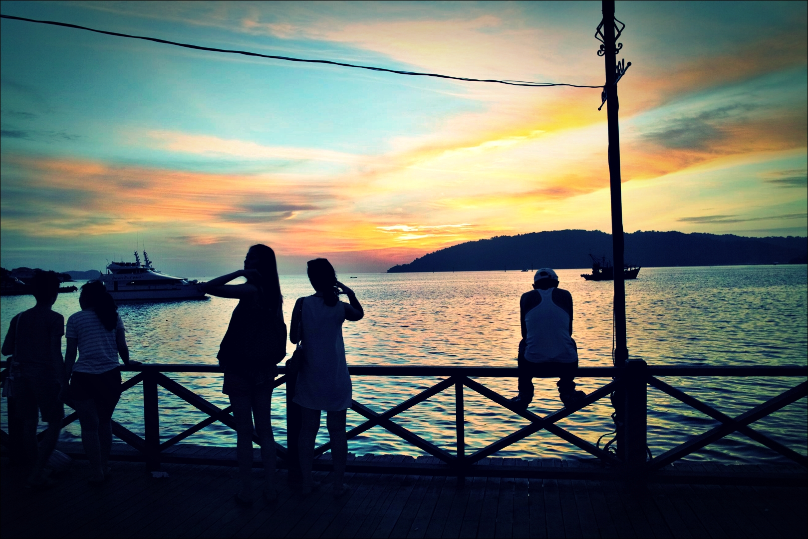 석양을 바라보는 사람들-'코타키나발루 둘러보기 Sightseeing Kota Kinabalu '