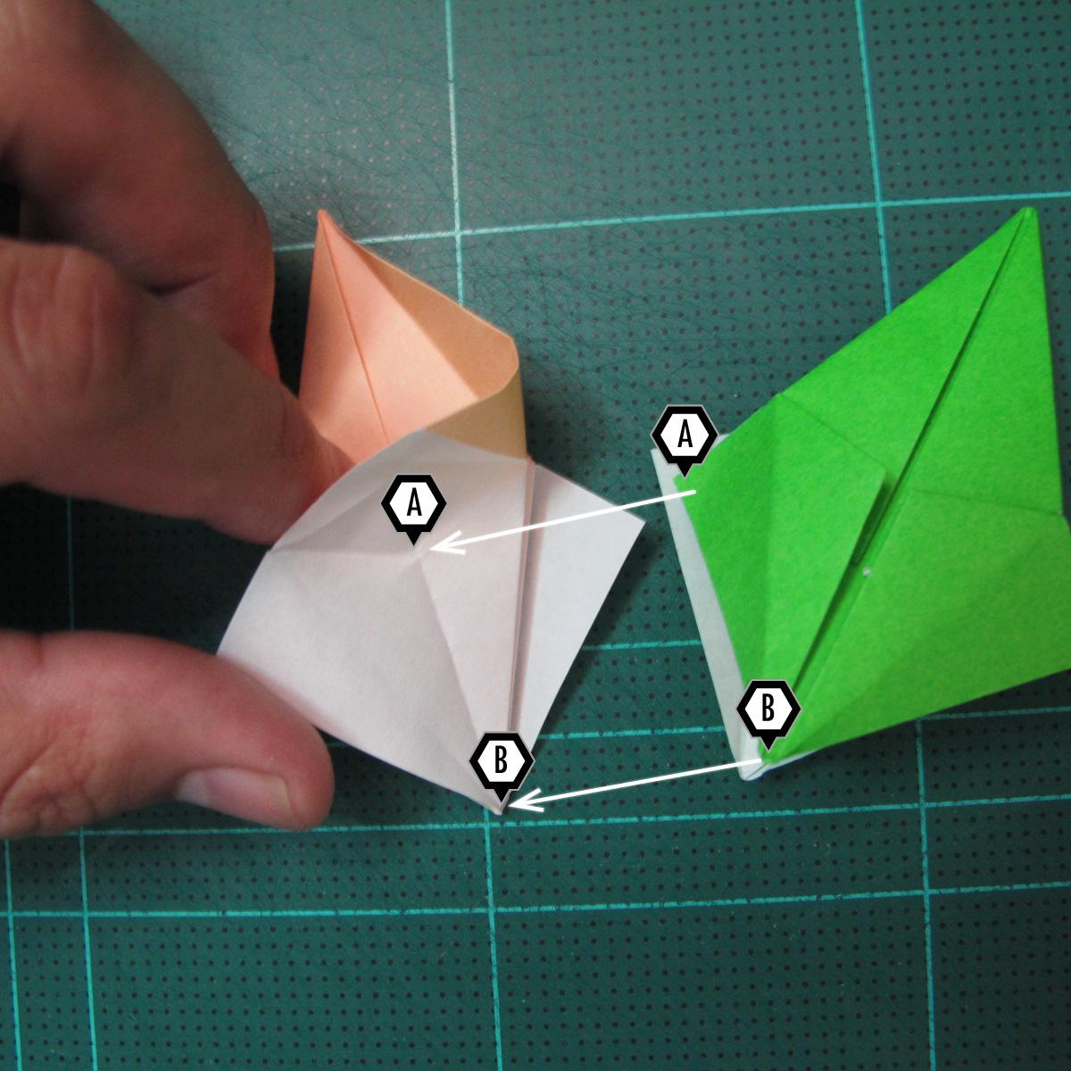 การพับกระดาษแบบโมดูล่าเป็นดาวสปาราซิส (Modular Origami Sparaxis Star) 015