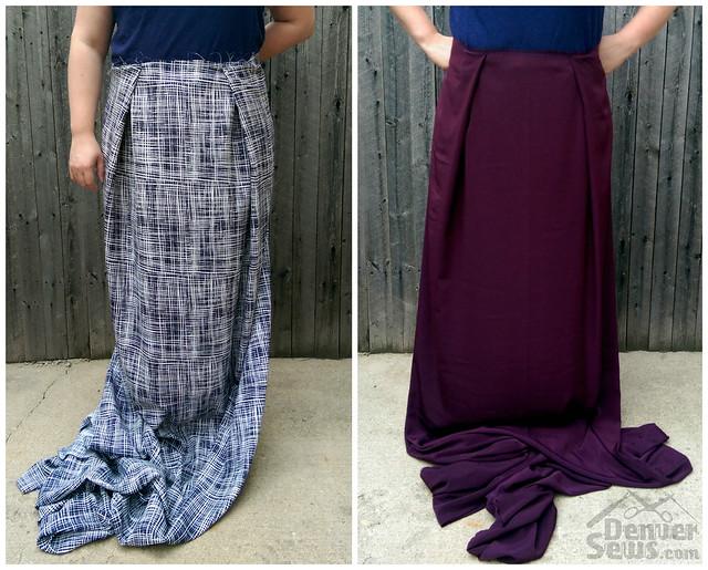 StyleArc Antionette Pants - Fabric Pleat Drape Comparison