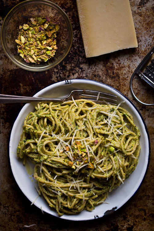 Avocado Mint Pesto Pasta