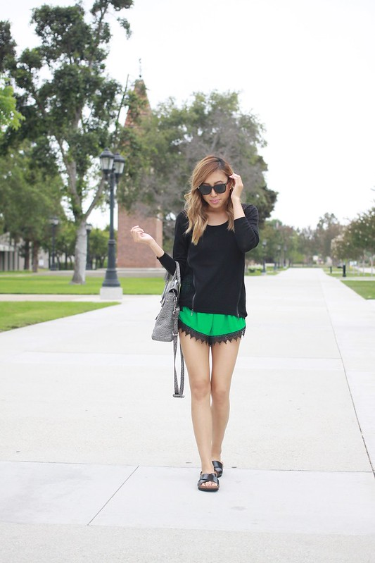 lucky magazine contributor,fashion blogger,lovefashionlivelife,joann doan,style blogger,stylist,what i wore,my style,fashion diaries,outfit,lush boulevard,dex clothing,phillip lim,3.1 phillip lim,pashli satchel,summer style,summer trends,lace shorts,asian american blogger,hm,luv aj