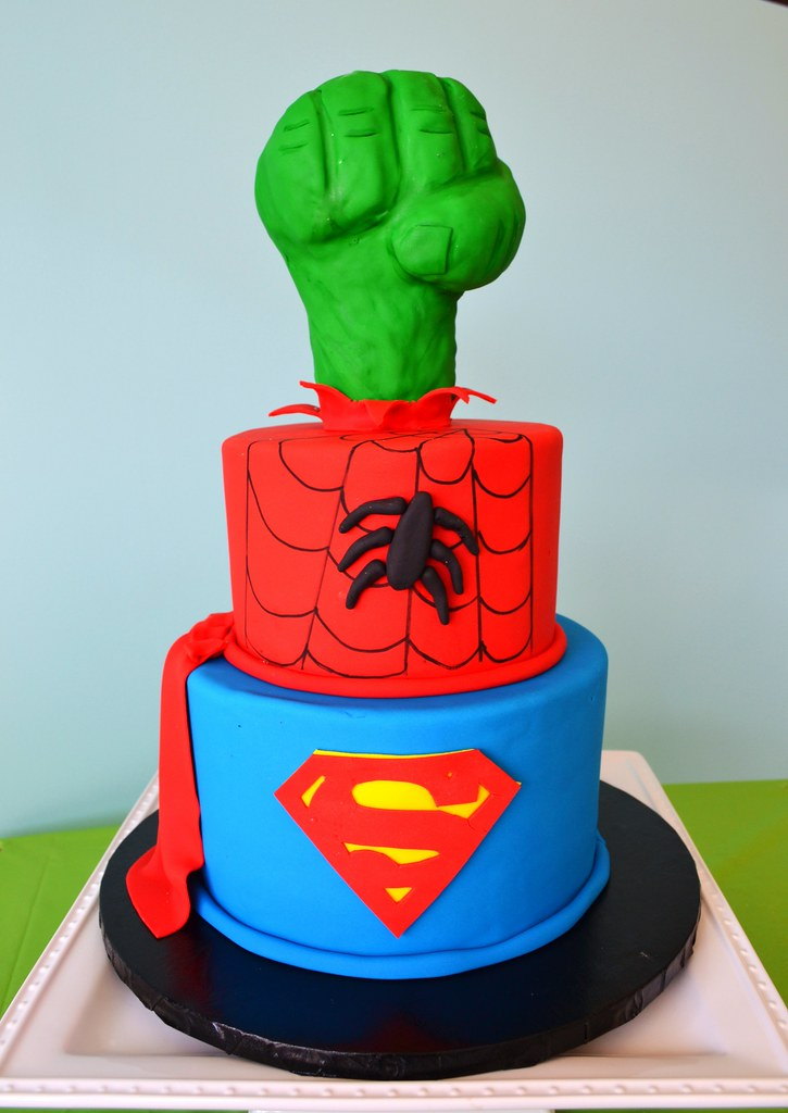 Hulk Spiderman And Superman Cake A Photo On Flickriver