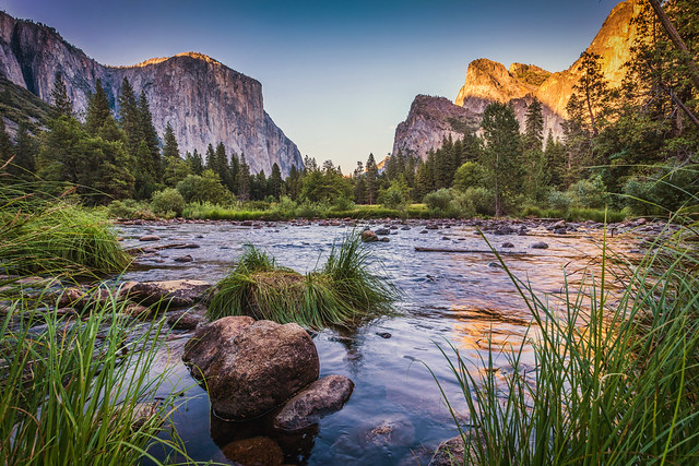 Yosemite's Gates of the Valley at Dusk