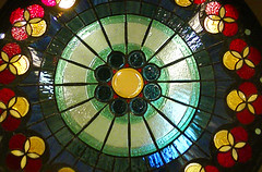 symmetry, circle, stained glass,
