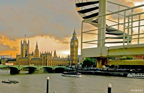 Big Bending Stairway To Heaven Against Big Ben London - IMRAN™