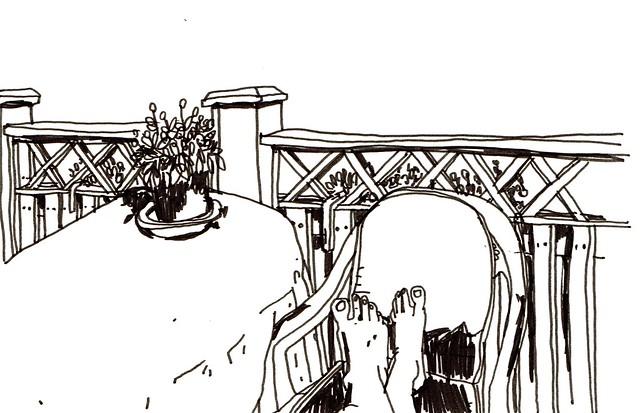 paus på altan