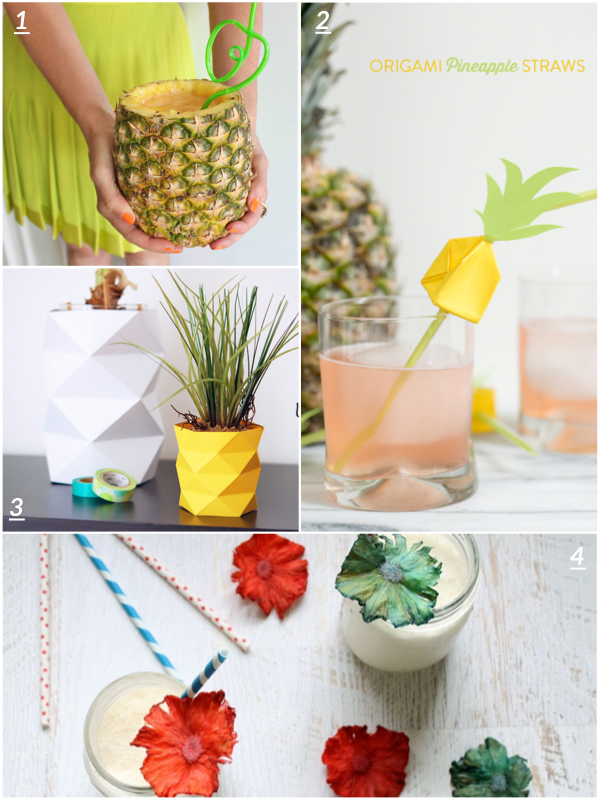 4 cute crafts : pineapple