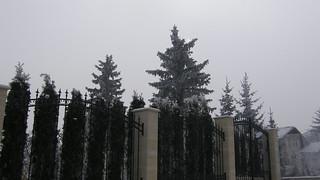 snowy winter in bulgaria fence 33