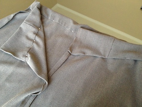 Grey Pencil Skirt - In Progress