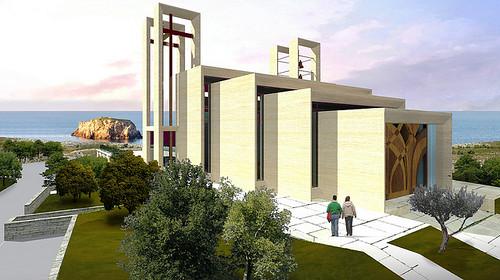 Il progetto frontale della Chiesa come sarà forse realizzato polignano
