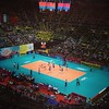 International volleyball. Japan v Italy in the 4th set. China b Thailand to follow #fb