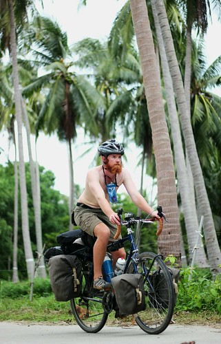 Cycling through coconut plantations