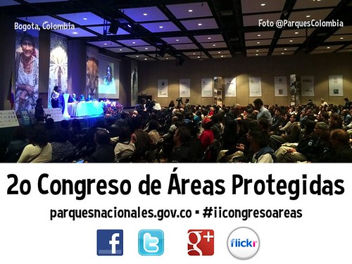 Hashtag for Colombia's Protected Areas Congress #iicongresoareas @ParquesColombia