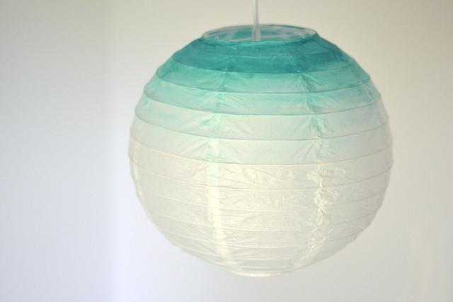 Lanterne chinoise, peinture mint