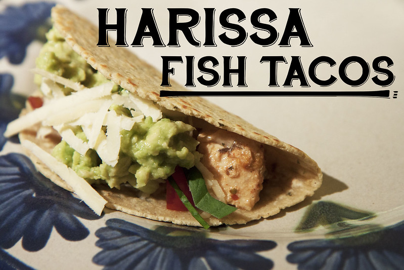 Harissa fish tacos