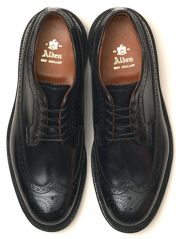 Alden / 9751 Black Shell Cordovan Long Wing Blucher