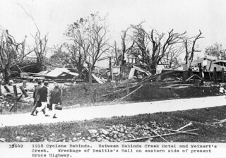 Beatties Hall after cyclone damage Babinda 1918 research