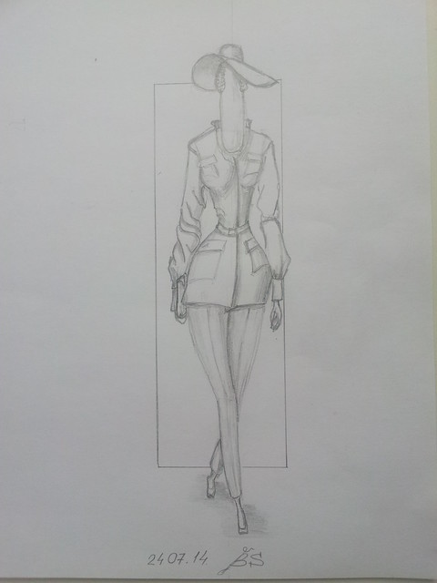 fashion illustration, safary style