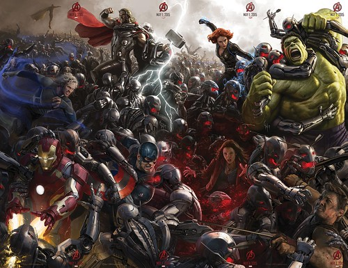 【Super High Res.】140728(2) - 2015年電影《Avengers: Age of Ultron》(復仇者聯盟2:奧創紀元)9大超級英雄合體海報出爐、台灣4/22隆重上映! 9