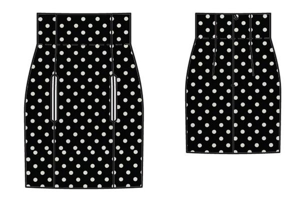 high waisted mini skirt mock up 1