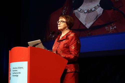 Sinikka Sipilä, présidente de l'IFLA - IFLA WLIC 2014