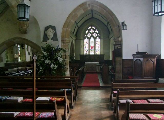 Brightling, Sussex, St Thomas a Becket, interior looking east