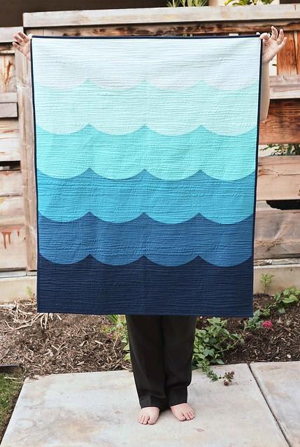 deep blue sea baby quilt