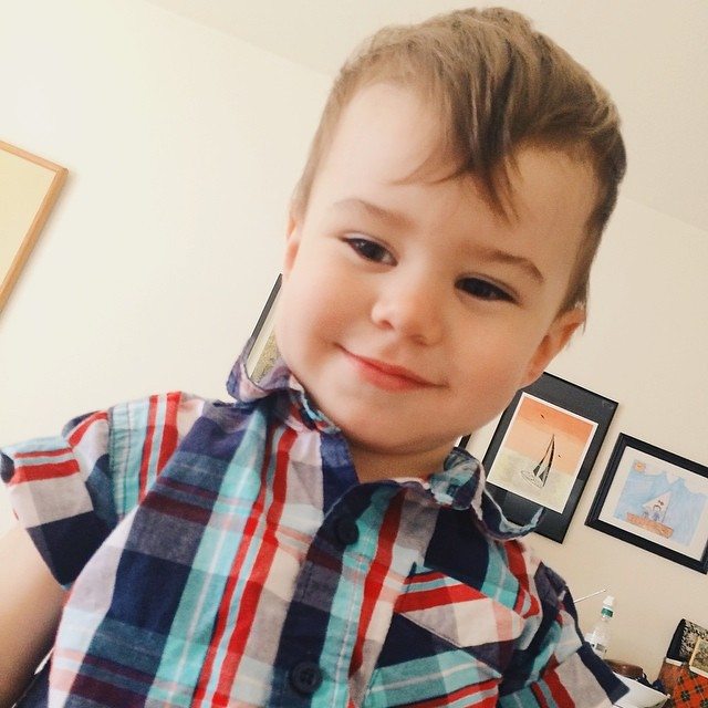 Happy Wednesday! It is Wednesday, right? #instaluther #toddler #children #daysoftheweek #plaid