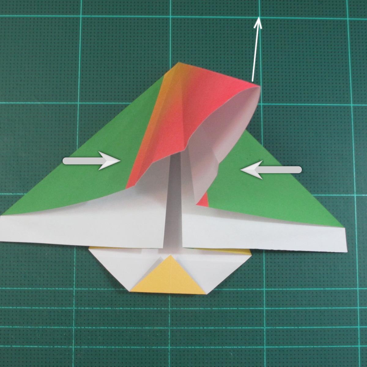 วิธีพับกระดาษเป็นรูปนกแก้ว (Origami Parrot) 011