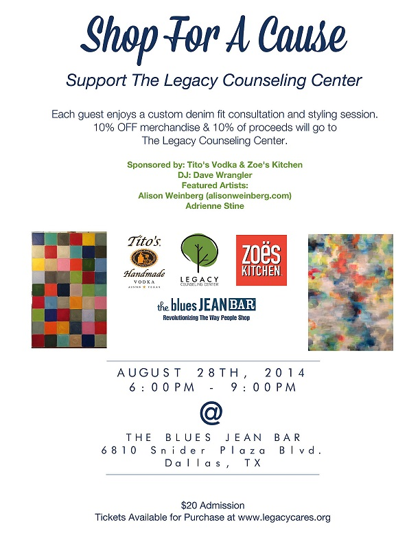 Dallas Legacy Counseling Center Blue Jean Bar Fashion Event Texas