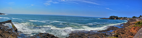 ocean panorama water oregon bay coast harbor rocks waves pacific scenic gimp pacificocean wife coastline oregoncoast hdr highway101 whalewatching depoebay gaylene easyhdr panoramamaker6