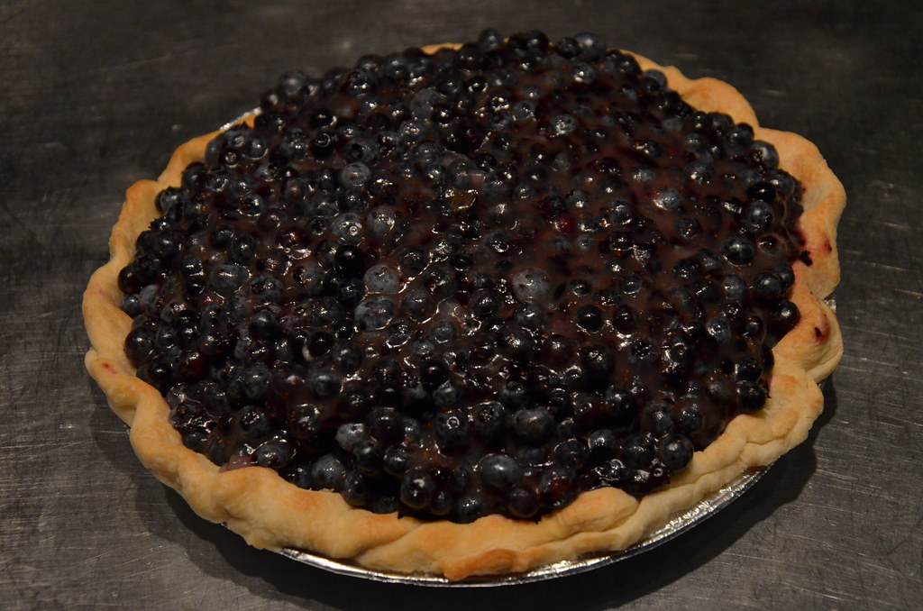 Blueberry pie in Maine - Thank you to H & B