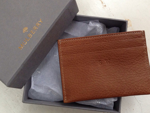 Mulberry monogrammed wallet