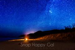 Esch Beach Campfire Under the Stars