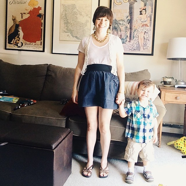 Thrifted What I Wore: Saturday Edition. Every thing on me but the shoes are thrifted. I told Luther to smile for the camera, and he obliged. #thrifted #thrifting #thriftculture #thriftfashion #thriftedwhatiwore #whatiwore #wiw #instaluther #toddler