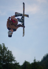 jumping, freestyle skiing, vehicle, sports, extreme sport,