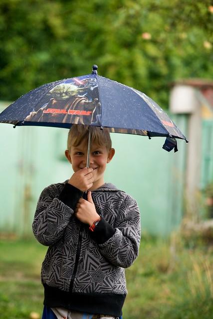 Zkouška deštníku