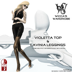 "Wicca\'s Wardrobe - ""Lavinia Leggings"" & ""Violetta Top"""