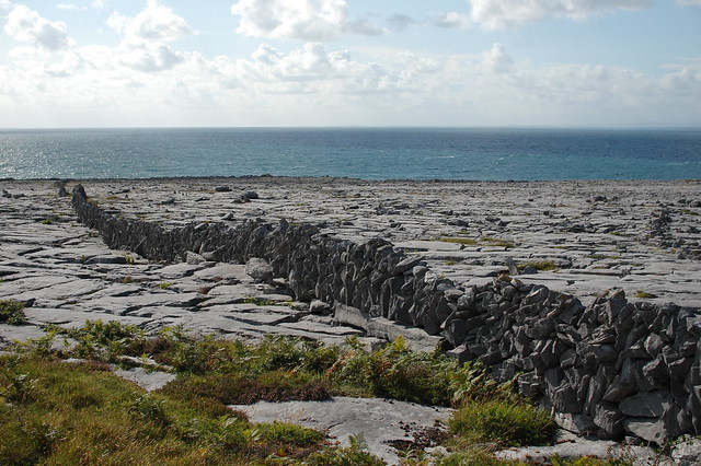 boundary wall in the Burren
