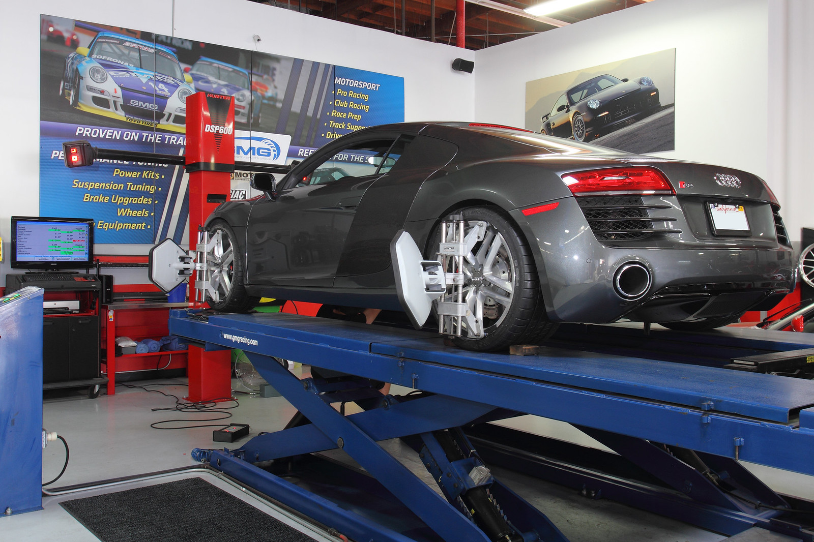 Audi R V At GMG Racing For Scheduled Maintenance Service - Audi car maintenance costs