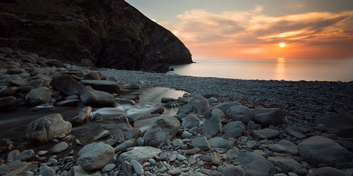 sunset beach rock mouth landscape martin peter combe lynton heddons highveer