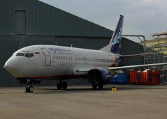 ex Nordavia 737-505 stored - Bournemouth 13-9-14