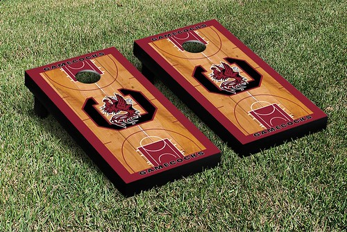South Carolina Gamecocks Cornhole Game Set Basketball Version