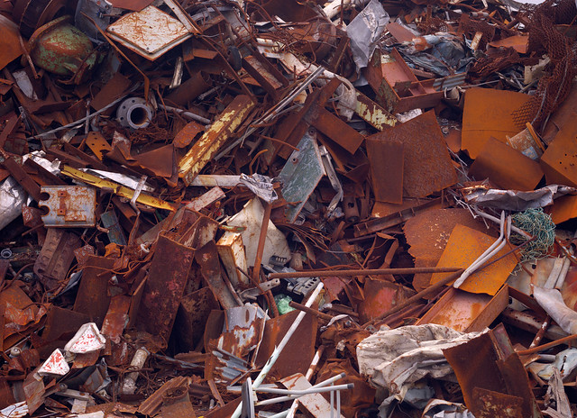 The iron scraps are beautiful