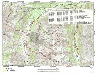 Huron Peak Topo Map with Waypoints