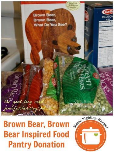 Brown Bear, Brown Bear Inspired Food Pantry Donation (Image from The Good Long Road)
