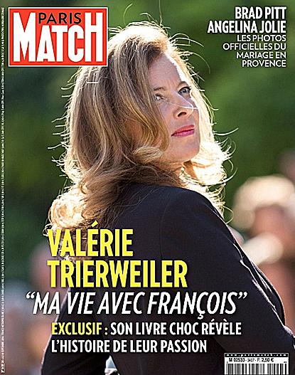 14i02 París Match Lanza libro de Vaérie Trierweiler