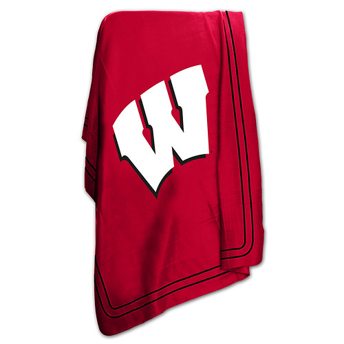 Wisconsin Badgers NCAA Classic Fleece Throw