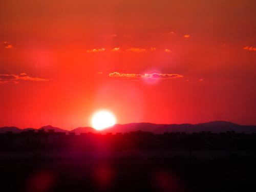 sunset orange naturaleza sun sol nature beautiful contraluz landscape atardecer paisaje nubes montaña naranja barrio nwn fuenlabrada parquemiraflores